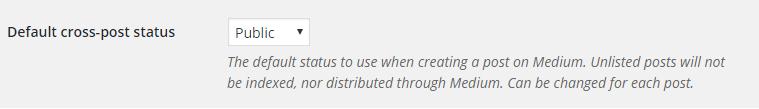 Medium - Default cross-post status
