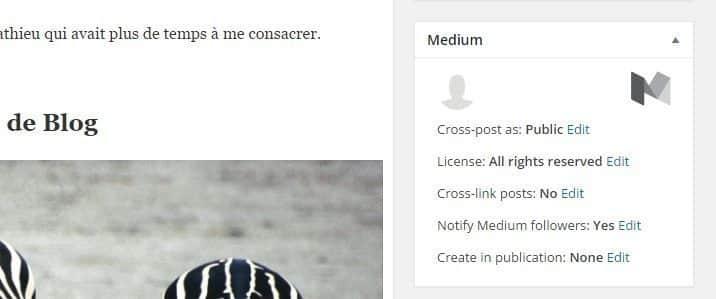 Sélectionnez Public pour publier votre article sur Medium