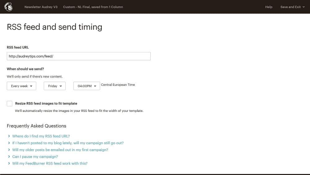 3. Configurer votre newsletter automatisée