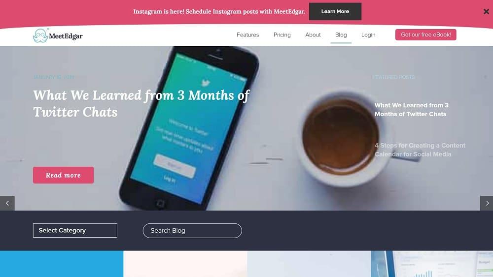 Le blog de MeetEdgar pour promouvoir vos contenus