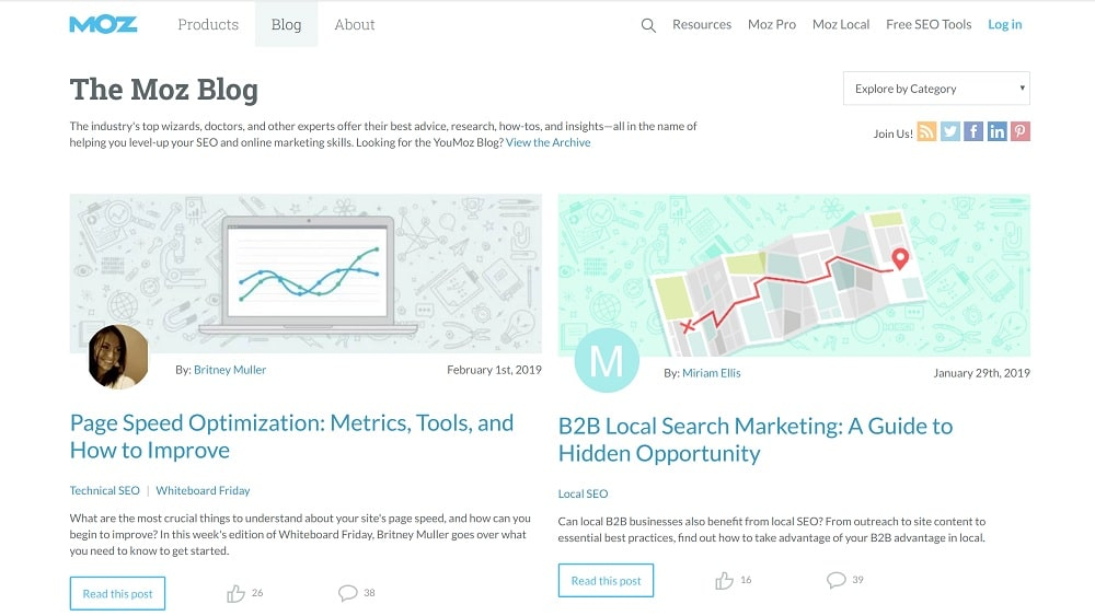 Moz - 15 Blogs Américains sur le Marketing en ligne à Suivre en 2019