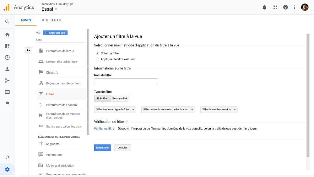 utiliser google analytics : créer des vues