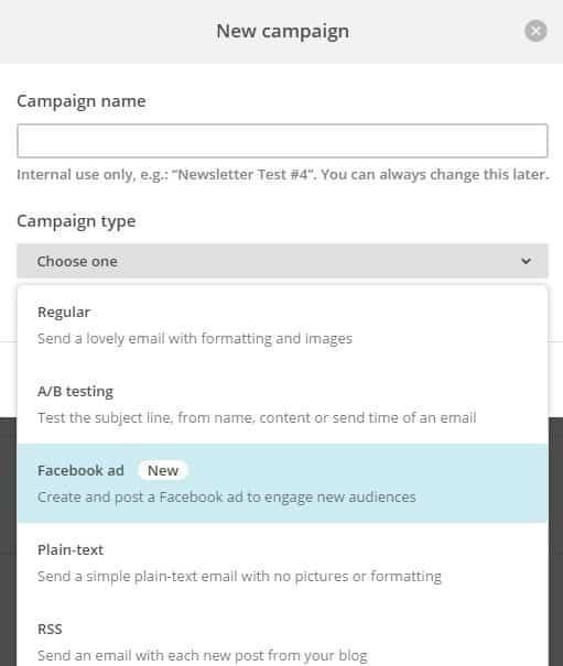 Créer Des Publicités Facebook Ads Via Mailchimp ? - Publicité En Ligne