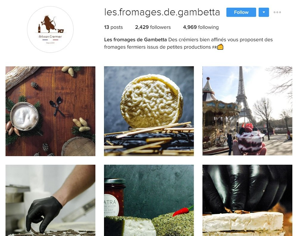 Les Fromages de Gambetta : Fromager sur Instagram