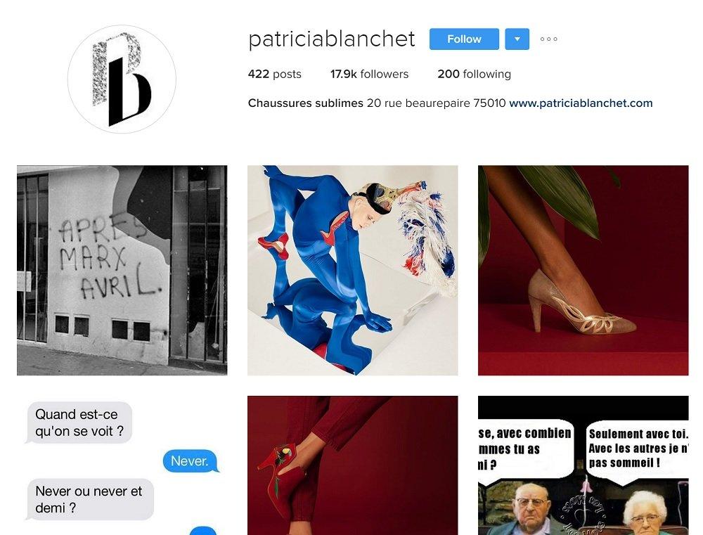Patricia Blanchet: Chaussures sur Instagram