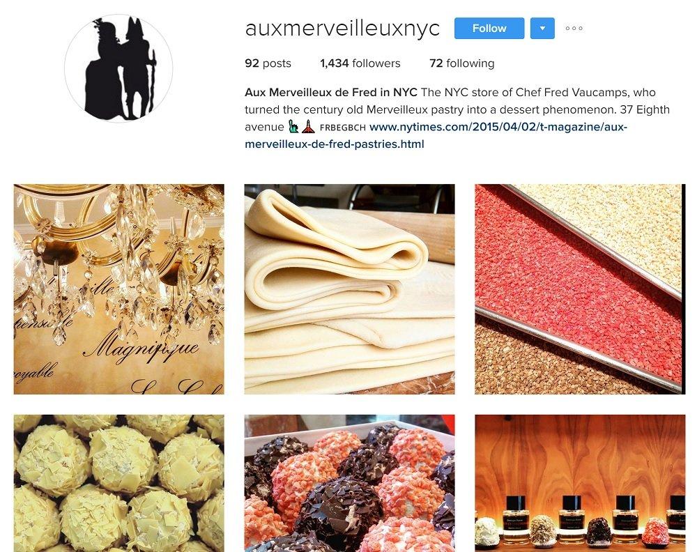 Aux merveilleux de Fred: Pâtisserie sur Instagram