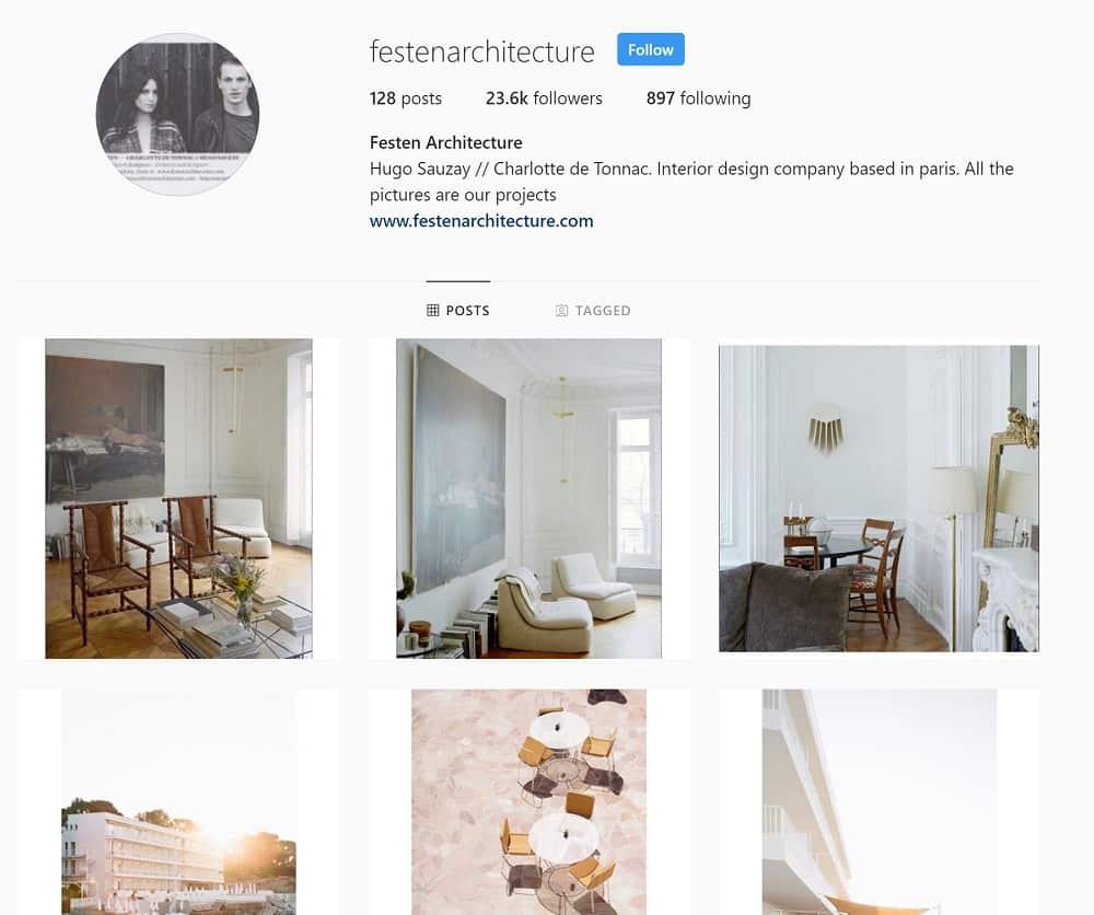 Festen Architecture Instagram