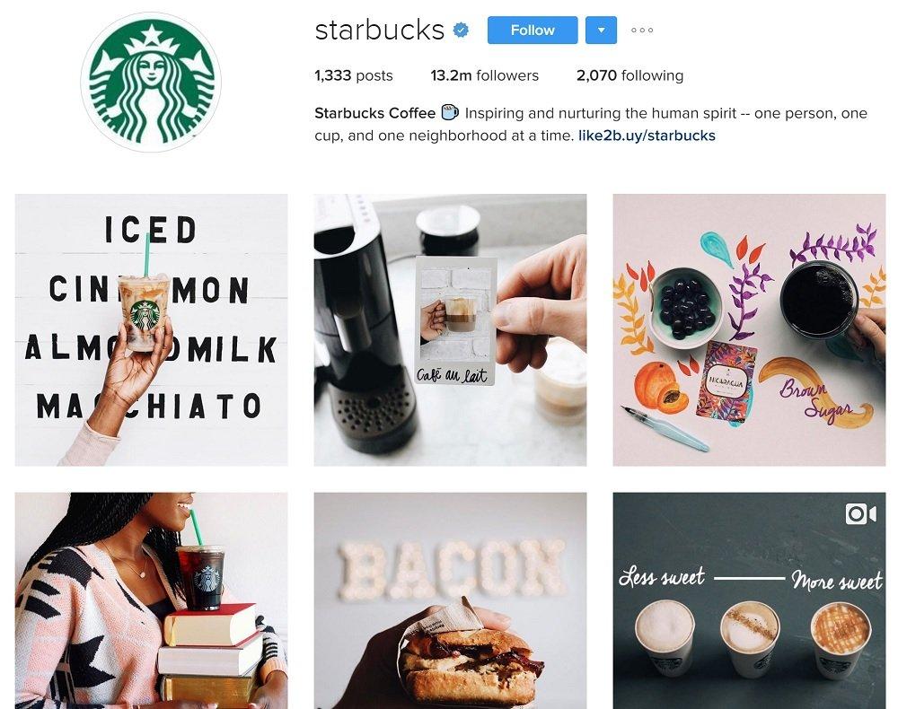 Starbucks : le modèle à suivre parmi toutes les entreprises utilisant Instagram