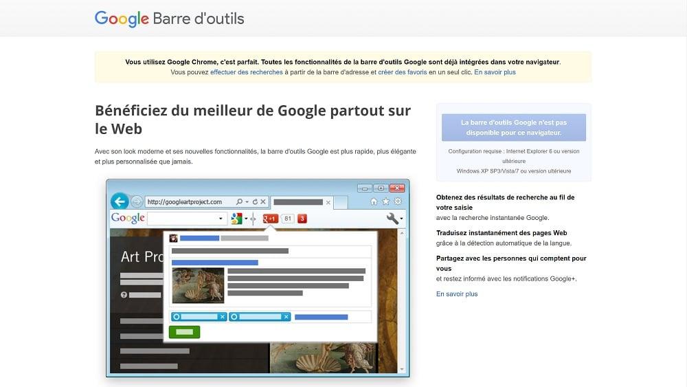 Les données de la Toolbar Google