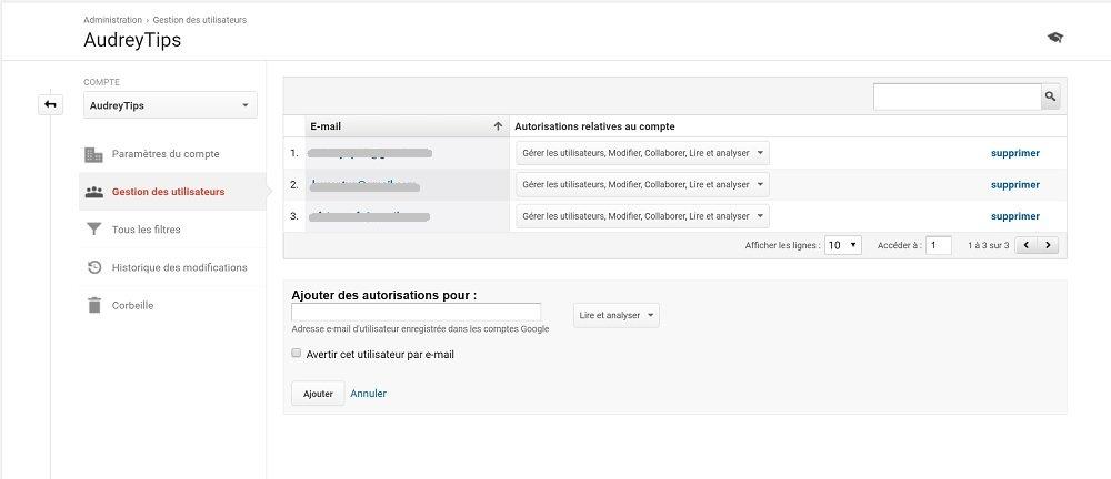 Ajouter, Modifier Et Supprimer Des Utilisateurs Sur Google Analytics - Marketing Digital
