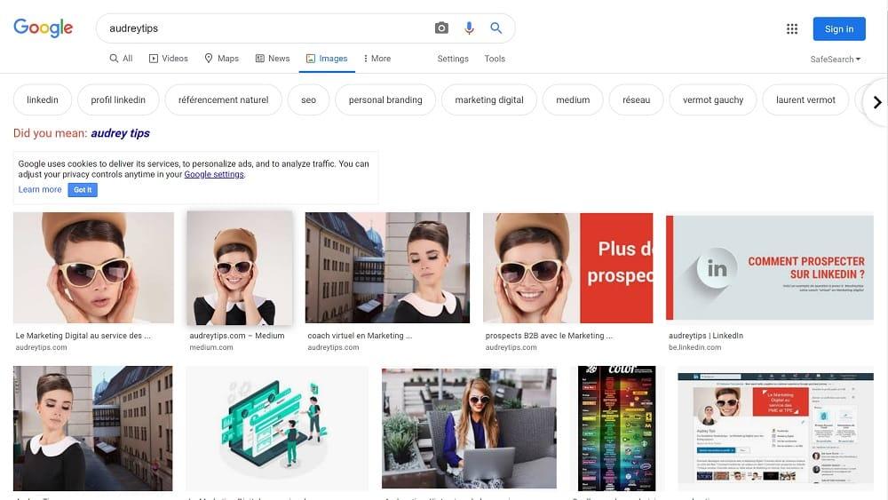 comprendre l'algorithme Google - recherche images