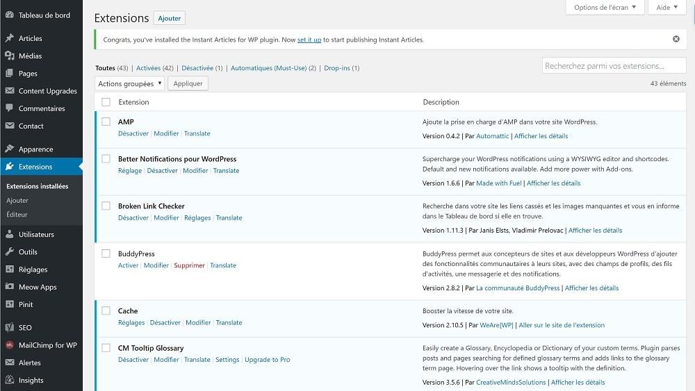 Extensions Wordpress désactivées - Ralentissent-elles votre site Web ? - Référencement Naturel (SEO)