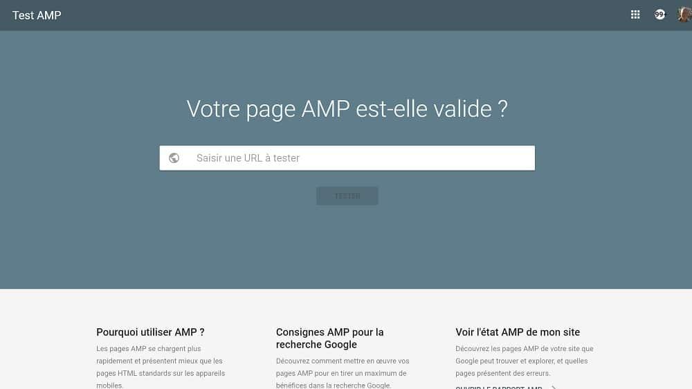 7. Outil de test AMP : votre page AMP est-elle valide ?