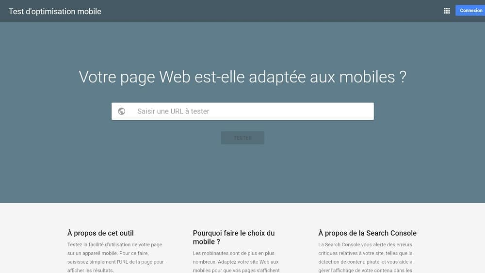 4. Test d'optimisation mobile : tester la compatibilité de vos pages sur mobile