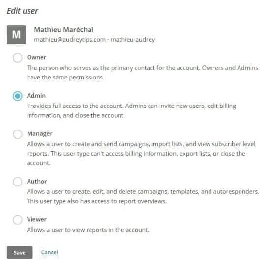 Ajouter, modifier et supprimer des utilisateurs sur MailChimp - Email Marketing