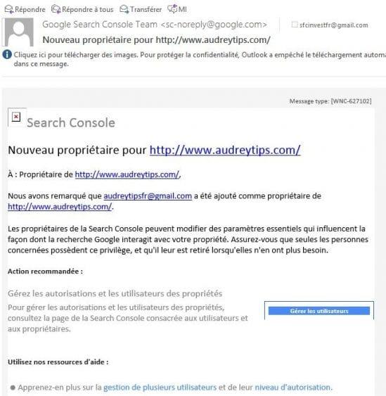 Ajouter, modifier ou supprimer un utilisateur sur Google Search Console - Référencement Naturel (SEO)