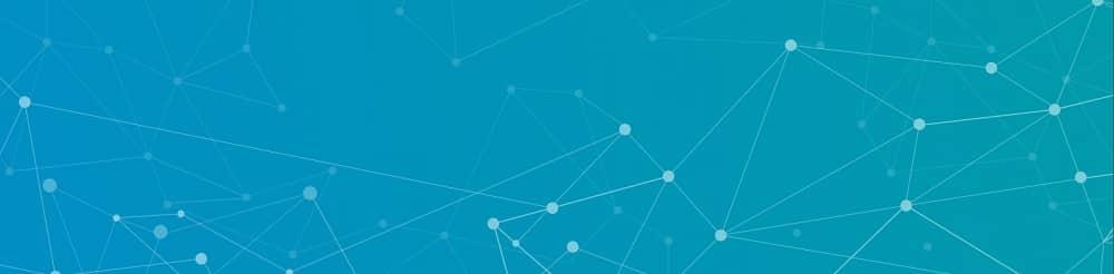 La photo de couverture de profil LinkedIn par défaut est un fond bleu avec des formes et des points géométriques.