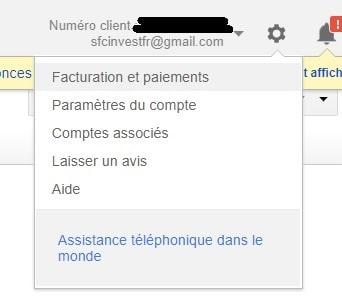 Créer, modifier, lister et supprimer un utilisateur Google AdWords