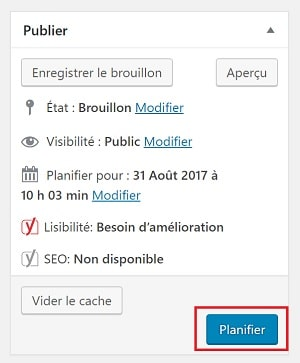 Planifier la publication de vos articles à l'avance dans WordPress - Marketing de Contenu