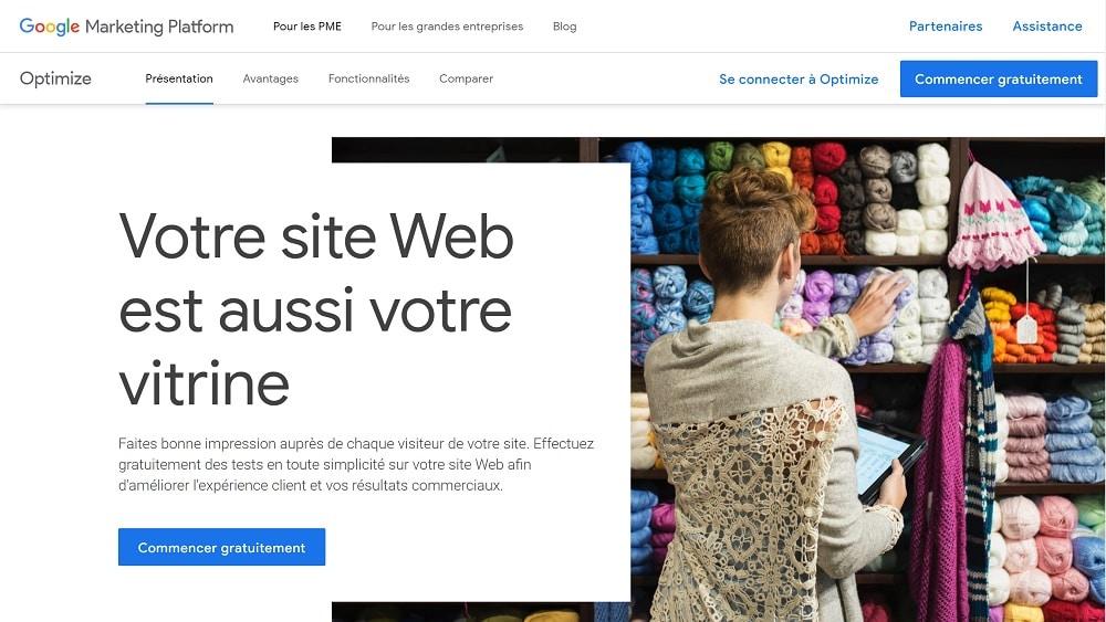 8. Google Optimize pour comparer des variantes de pages