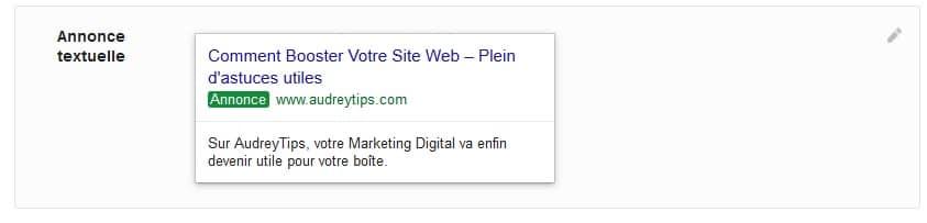Rédiger votre première annonce Google Ads
