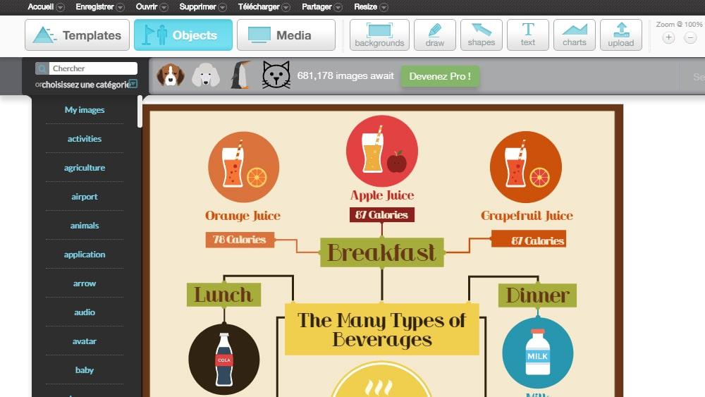 Découvrir les infographies avec 4 outils - Marketing de Contenu