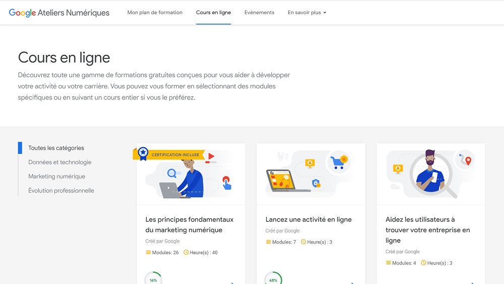 Google Ateliers Numériques : J'ai testé la formation pour vous ! - Marketing Digital