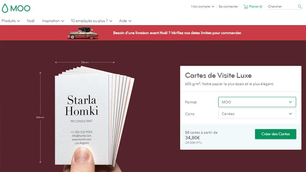 Utiliser MOO Pour Diter Vos Cartes De Visite