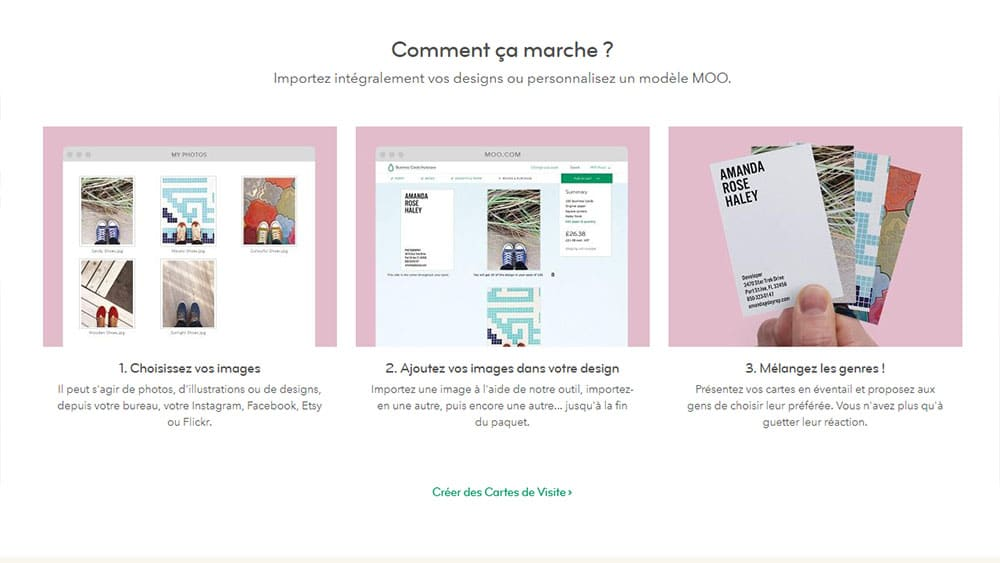 Beautiful Utiliser Moo Pour Diter Vos Cartes De Visite Marketing Digital With Comment Crer Sa Carte