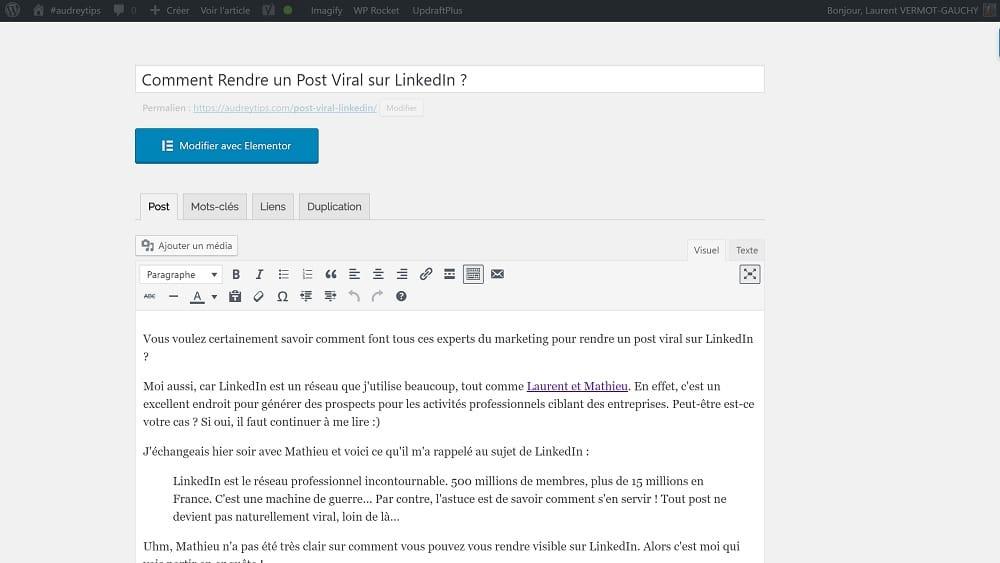 10 Astuces Wordpress Pour Gagner En Productivité - Marketing de Contenu
