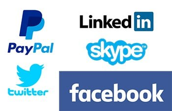 L'impact du bleu : confiance et sécurité - exemples de logo