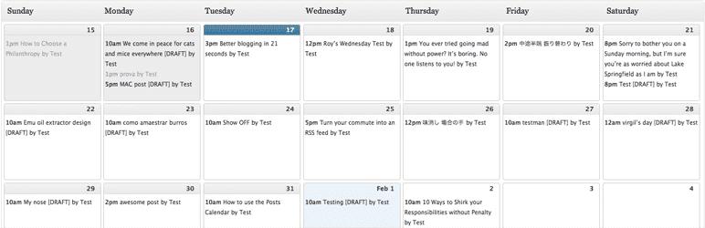extension indispensable : WordPress Editorial Calendar : planifier à l'avance vos publications