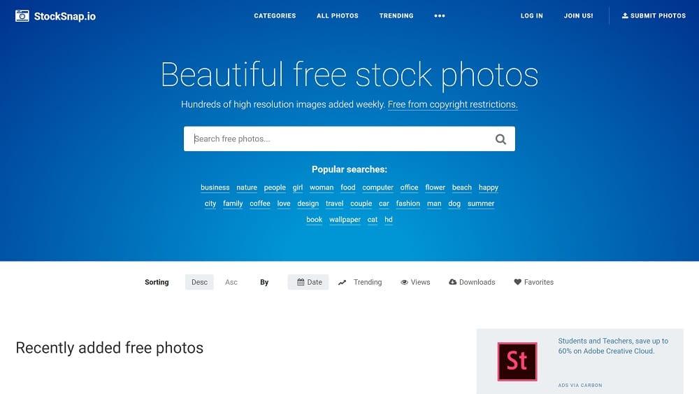 4. Stocksnap - des images éblouissantes pour vos projets créatifs