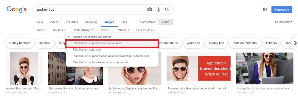BONUS : Comment trouver des images libres de droits sur Google Images