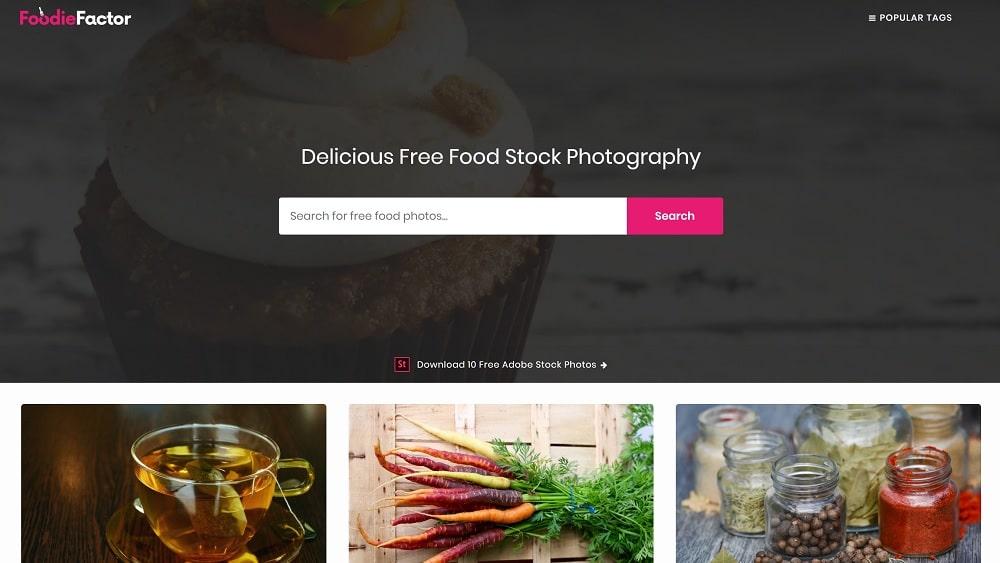 14. Foodie Factor - pour copier des images gratuitement d'aliments