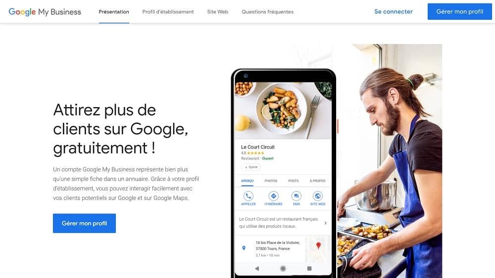 Ouvrir votre compte sur Google My Business