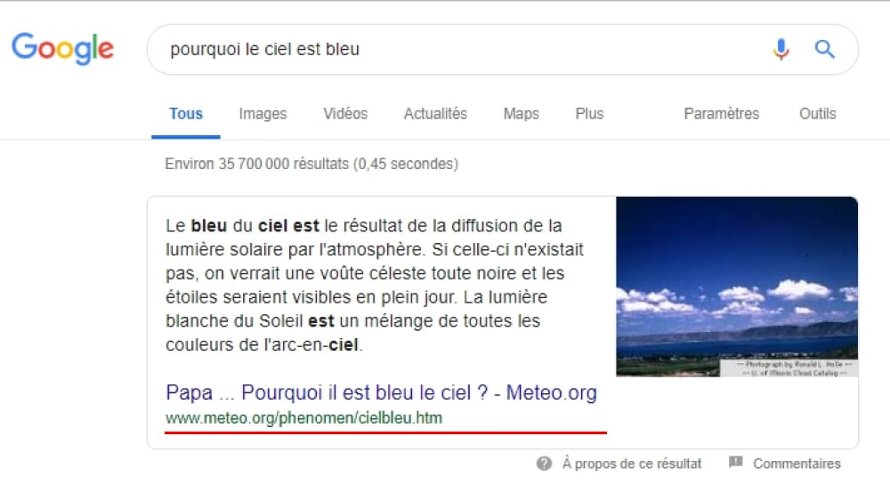 "Les Featured Snippets ""Paragraphes"""