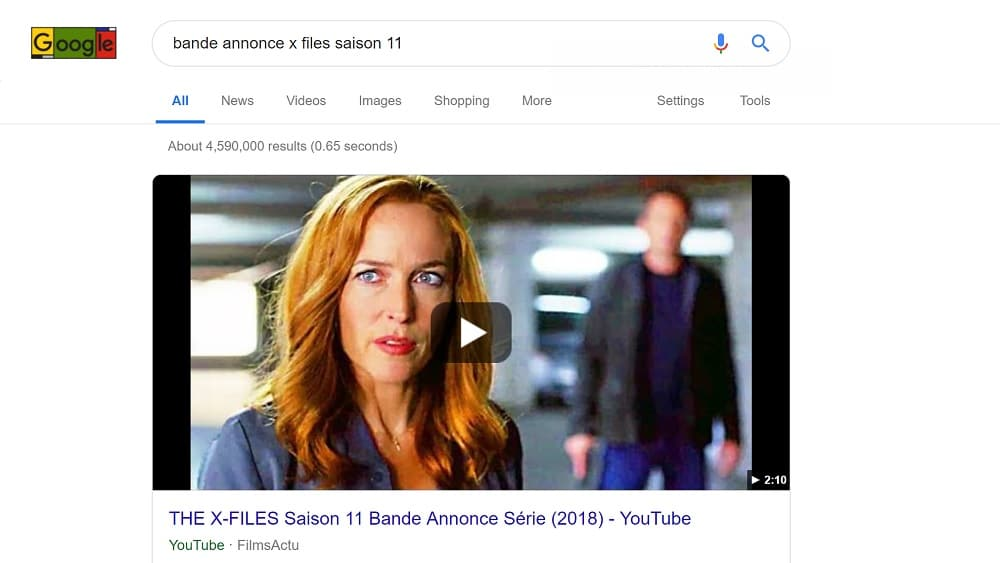 "Les Featured Snippets ""Vidéo YouTube"""