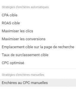 Google Ads met à votre disposition 8 stratégies d'enchères