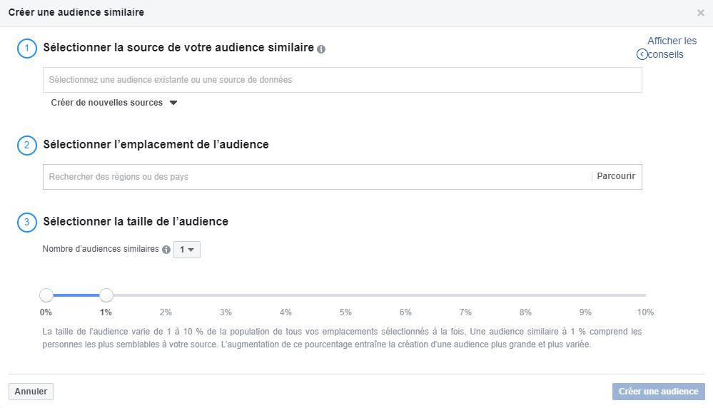 Comment créer des audiences similaires sur Facebook Ads ?