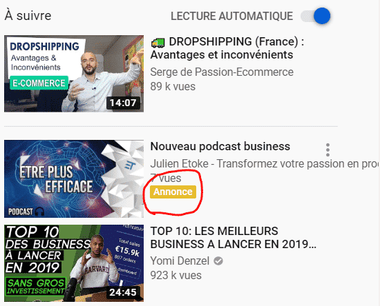 Campagnes YouTube : Le format Discovery