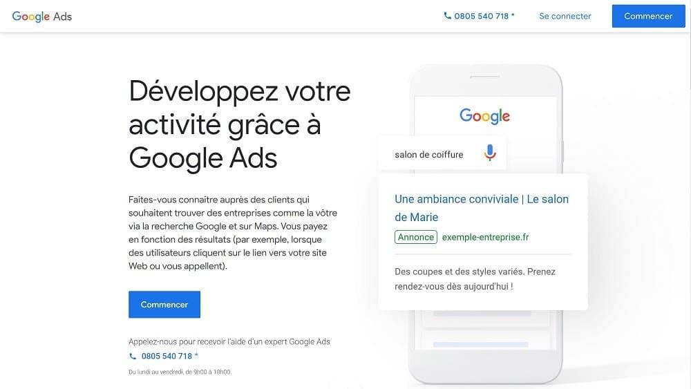 Créer un compte Google Ads
