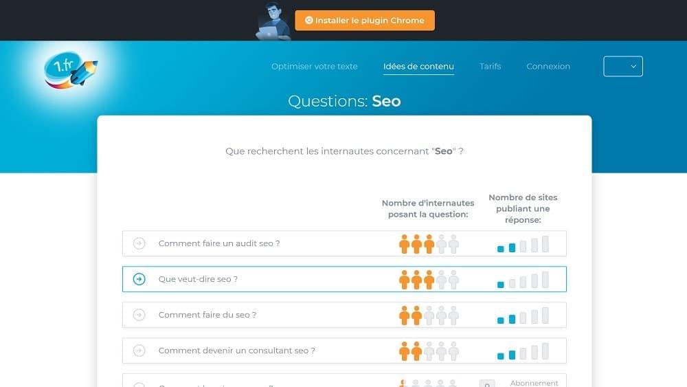 1.FR - créer des contenus qui répondent aux questions de vos clients