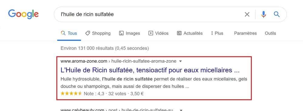 Avec l'outil Rich Results Testde Google, vous testez si vos pages web respectent les critères de Google pour obtenir les résultats enrichis.
