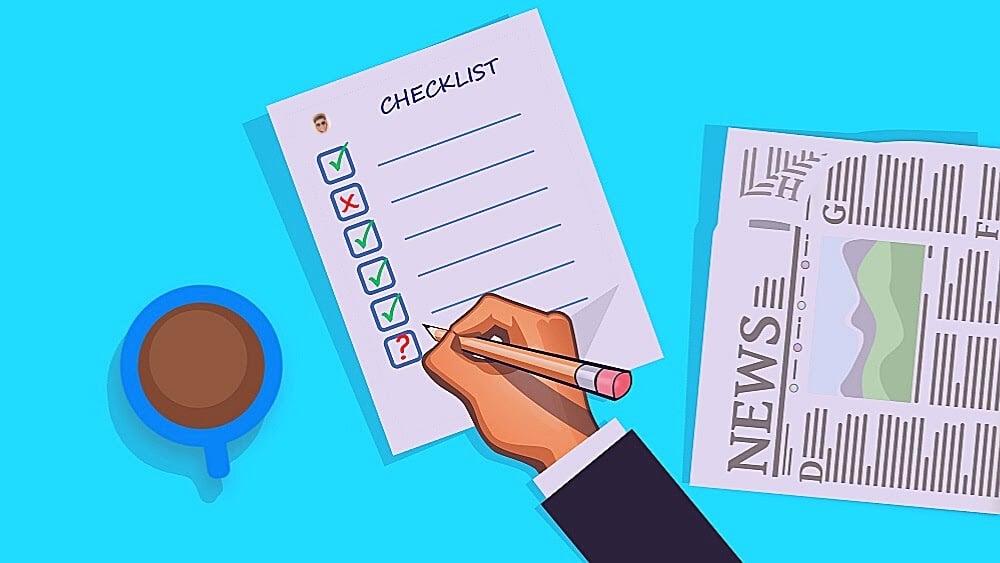 Contenu haut de l'entonnoir - Listes de contrôle (Checklist)