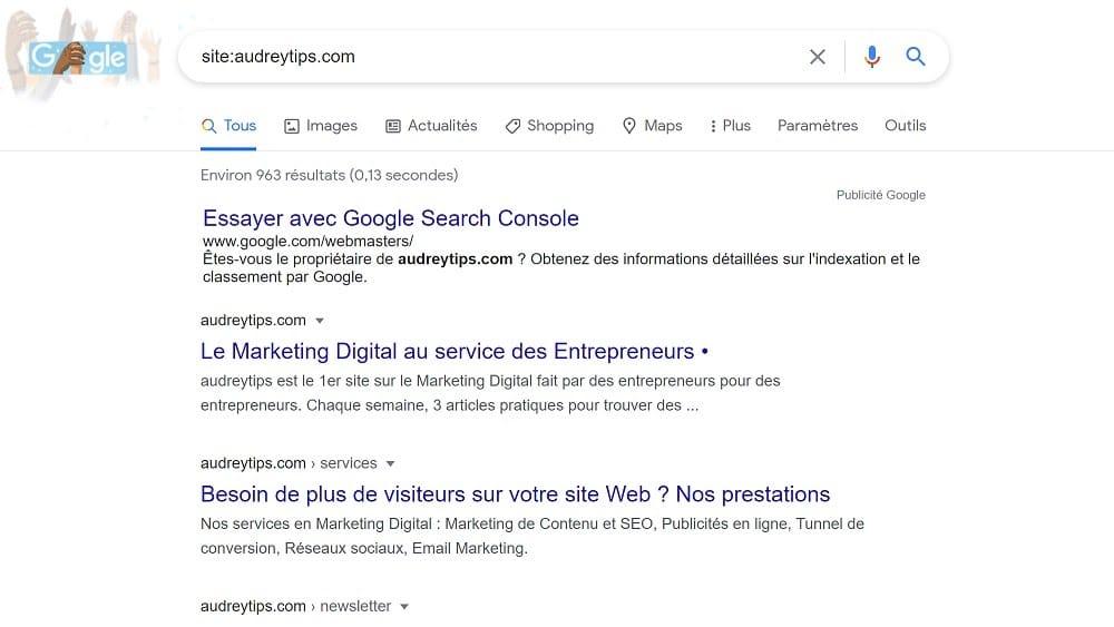 """""""site:"""" pour limiter votre recherche au contenu d'un site Web"""