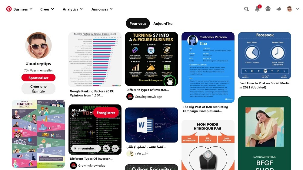Comprendre Pinterest - Le flux
