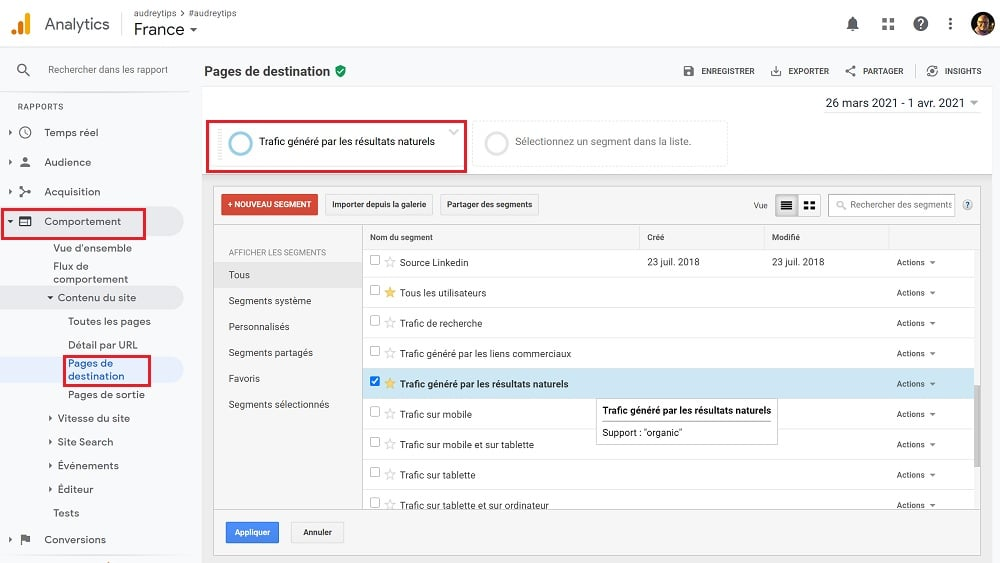 Google Analytics - Comment suivre votre volume de trafic généré par le Référencement Naturel ?